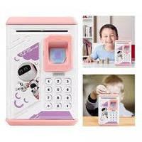Электронные копилки🎄 копилка для детей 🎄  Детская копилка сейф Robot Bodyguard с отпечатком пальца.