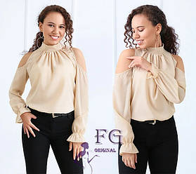 Блузка шифоновая с открытыми плечами