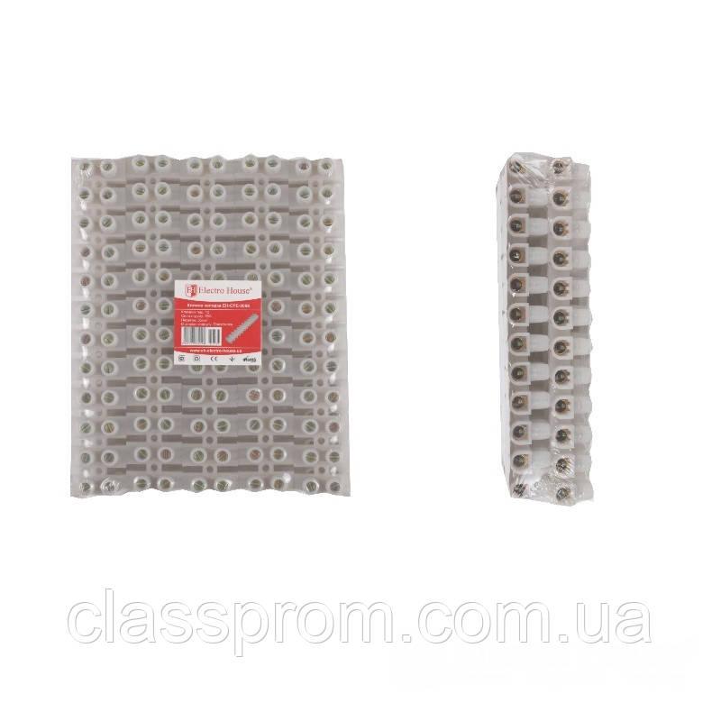 ElectroHouse Клеммная колодка 80A 35mm² ПЭ винтовой зажим