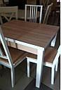 Стол обеденный Марсель 90(+35+35)*70  орех - Сонома, фото 4