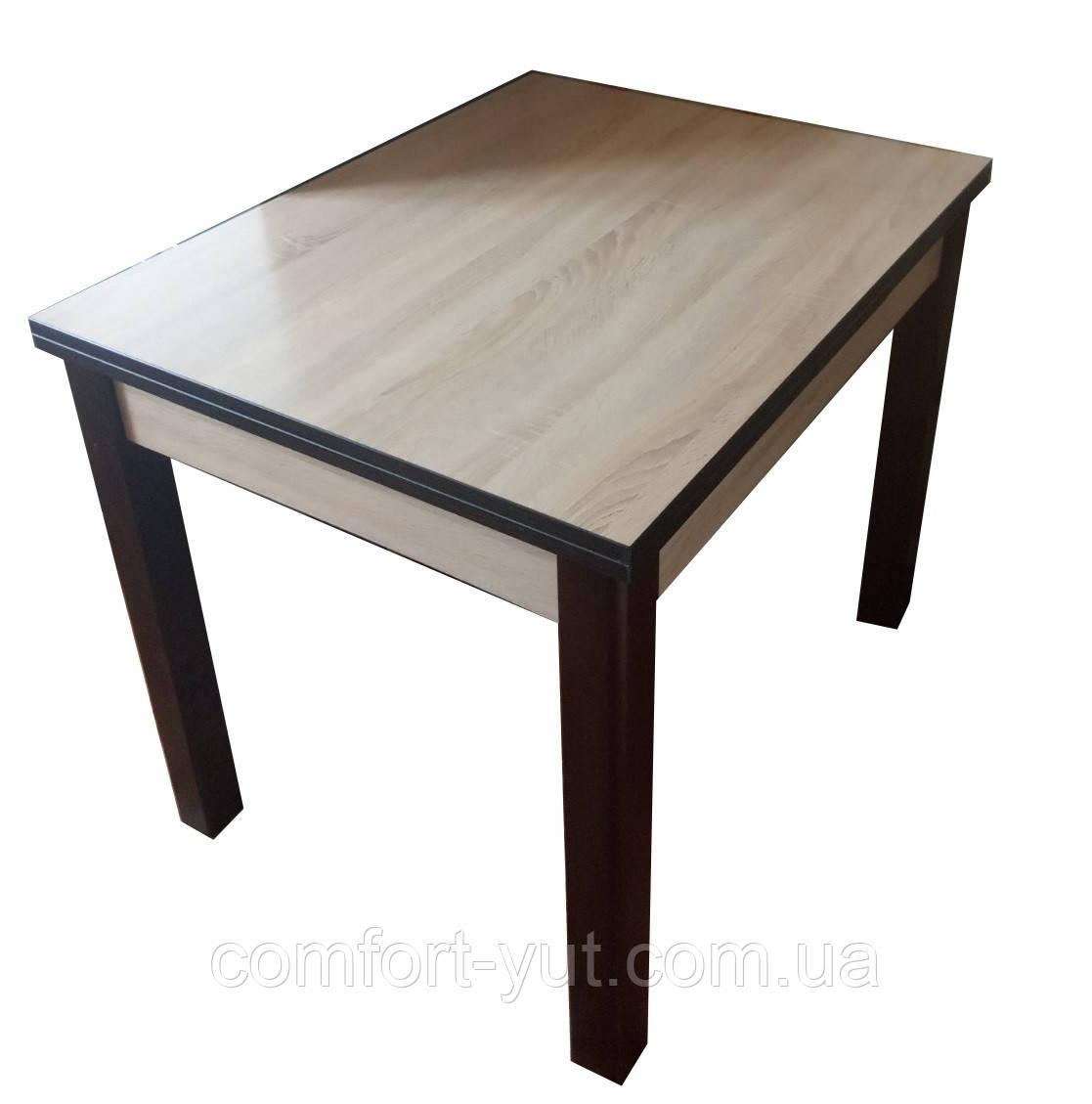 Стол обеденный Марсель 90(+35+35)*70  орех - Сонома