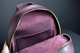 Женский кожаный рюкзак Лимбо, размер мини Итальянский краст цвет бордо, фото 2