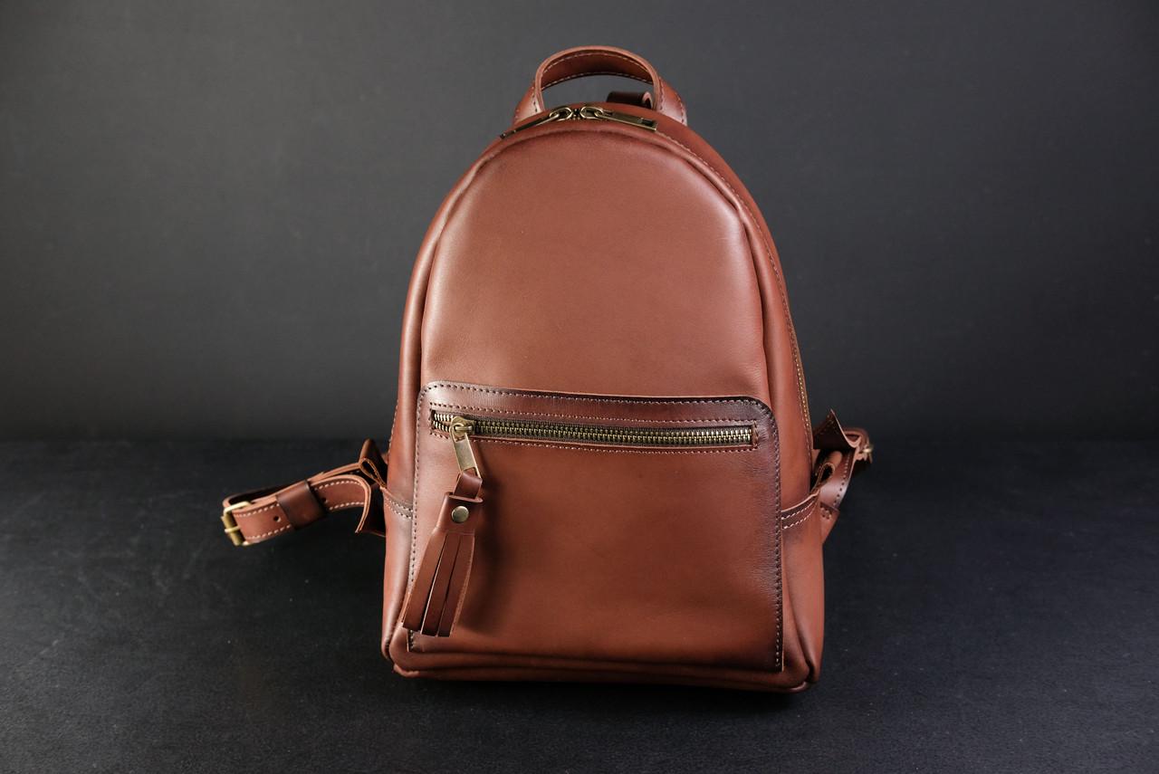 Женский кожаный рюкзак Лимбо, размер мини Итальянский краст цвет коричневый
