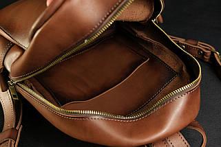 Женский кожаный рюкзак Лимбо, размер мини Итальянский краст цвет коричневый, фото 2