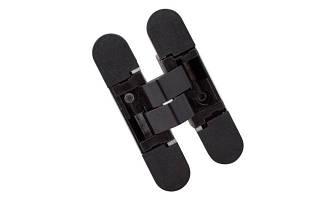 Петля прихована Hafele K1000 3D колір: чорний 180° вага дверей: 40/52кг