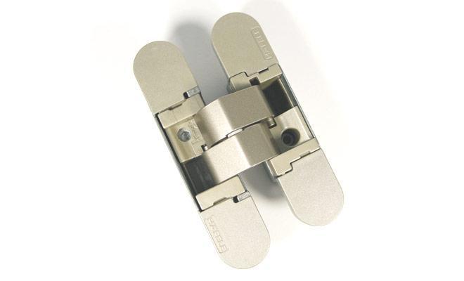 Петля прихована Hafele K1000 3D колір: F2 нікельована матова 180° вага дверей: 40/52кг