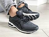 Мужские кроссовки Asics Gel-Kayano 25,сетка,темно серые, фото 4