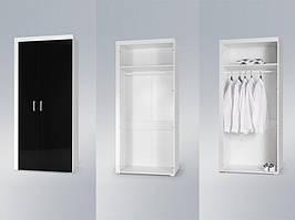 Шкаф SAMBA REG1 белый/черный (модульная мебель) (CAMA)
