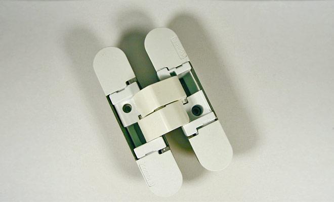 Петля прихована Hafele K1000 3D колір: біла матова 180° вага дверей: 40/52кг