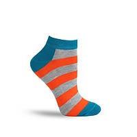 Шкарпетки жіночі Twinsocks 204 р-25 бірюза-оранж