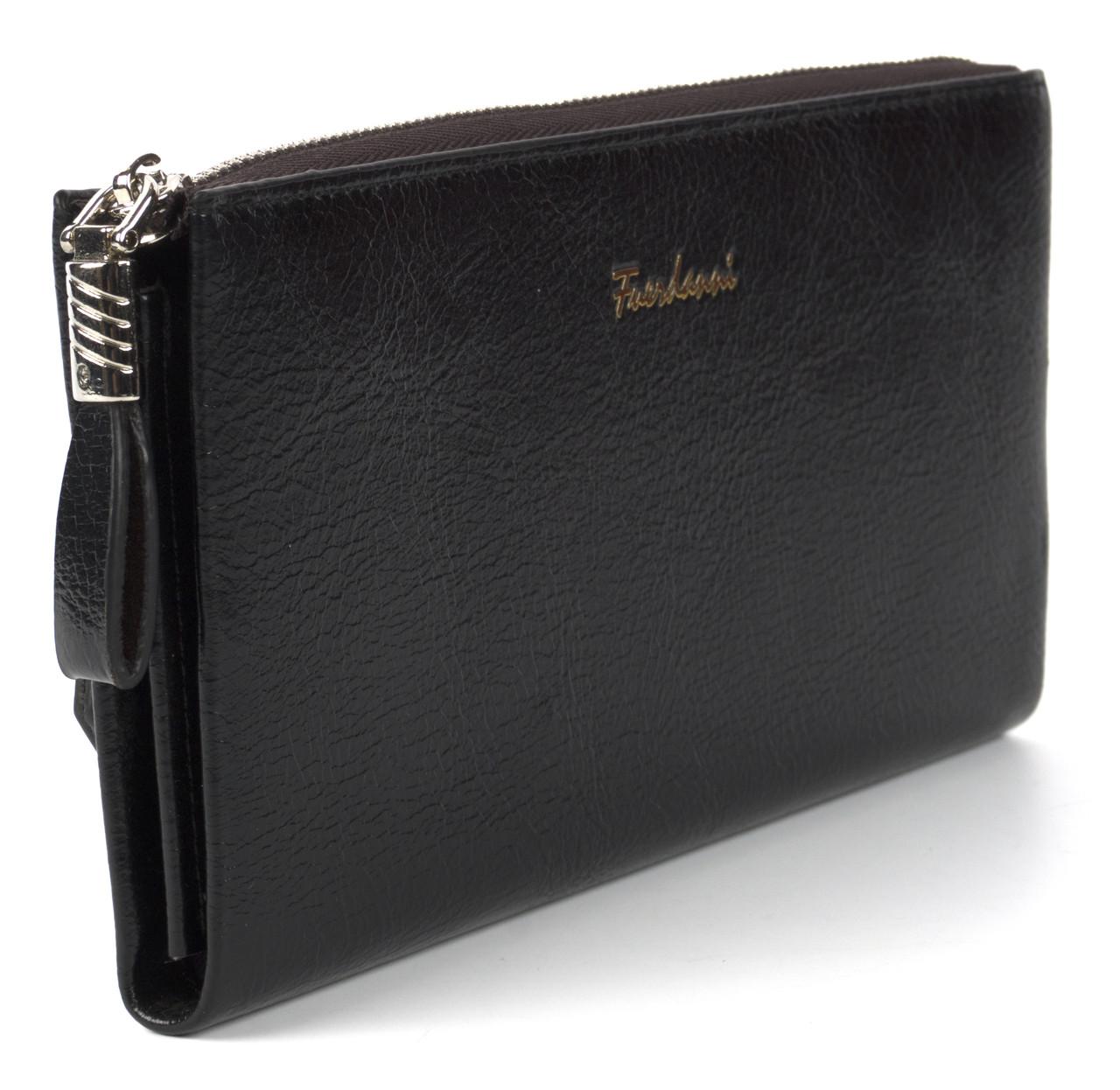 Стильный прочный удобный женский кошелек барсетка высокого качества FUERDANNI art. F 080-3 черный
