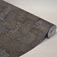 Обои для стен шпалери супер мойка однотонные графит с серебром супер-мойка 0,53*10м