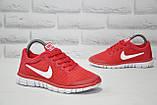 Червоні легкі дихаючі кросівки сітка в стилі Nike Free Run 3.0, фото 3