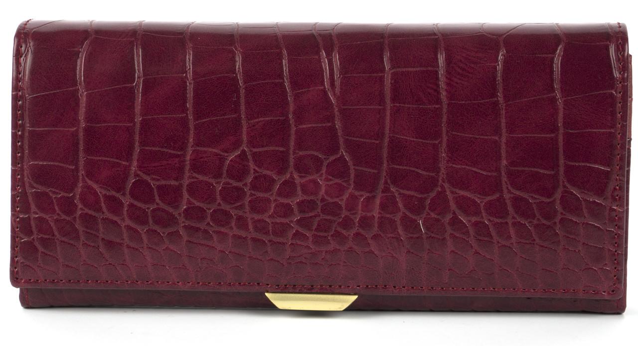 Акуратний жіночий гаманець класика з якісною еко шкіри SARALYN art. 6435 вишневий
