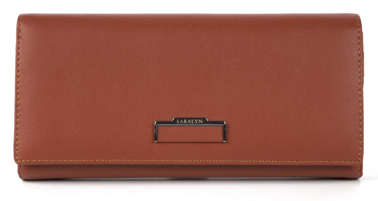 Аккуратный женский кошелек классика с качественной эко кожи SARALYN art. 2169 терракотовый