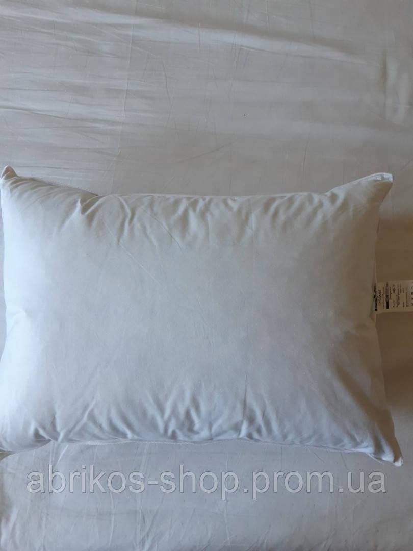 Пуховая, натуральная, мягкая,  невысокая  подушка 50×70