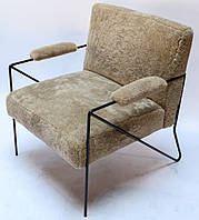 "Мягкое кресло ""Моав"", мягкое кресло на металлокаркасе, кресло для дома, кресло минимализм"