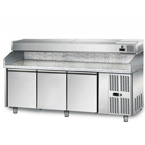 Холодильный стол для пиццы с витриной POS208N AGG204EN GGM gastro (Германия)