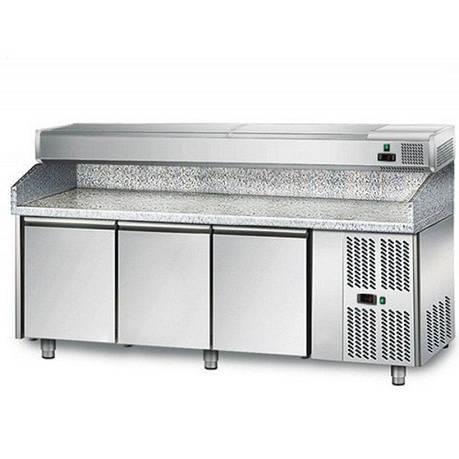 Холодильный стол для пиццы с витриной POS208N AGG204EN GGM gastro (Германия), фото 2