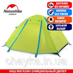 Палатка туристическая NatureHike NH18Z044-P; 4-х местная; 130х210х210/55см. Универсальная. NH18Z044-P green.