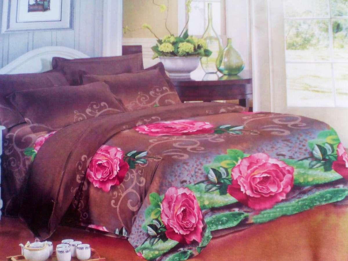 Комплект постельного белья от украинского производителя Polycotton Двуспальный T-90907