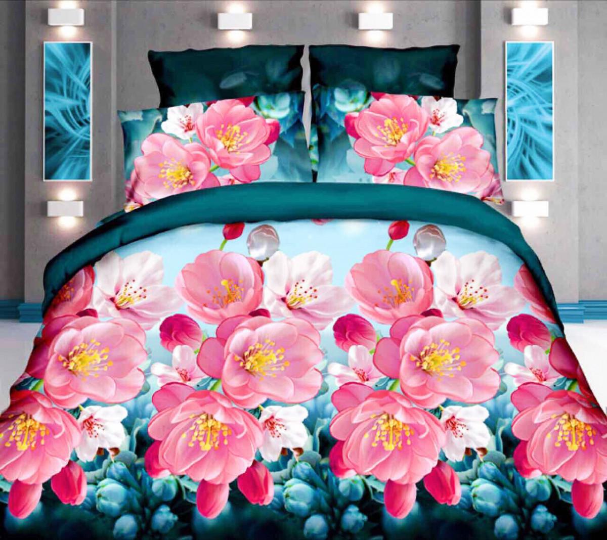 Комплект постельного белья от украинского производителя Polycotton Двуспальный T-90910