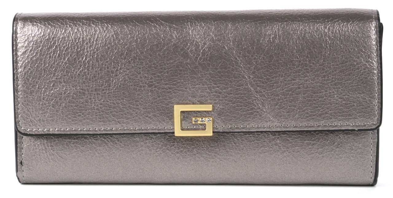 Класичний жіночий цікавий гаманець з якісної еко шкіри SARALYN art. З-9810 сріблястий