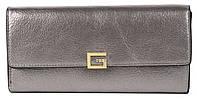 Класичний жіночий цікавий гаманець з якісної еко шкіри SARALYN art. З-9810 сріблястий, фото 1
