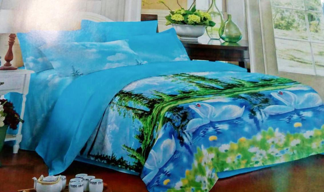 Комплект постельного белья от украинского производителя Polycotton Двуспальный T-90925
