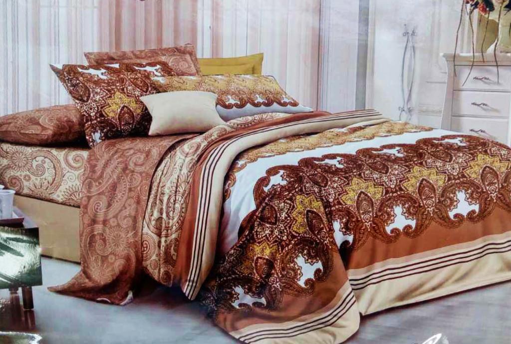 Комплект постельного белья от украинского производителя Polycotton Двуспальный T-90928