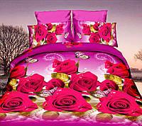 Комплект постельного белья от украинского производителя Polycotton Полуторный T-90952, фото 1
