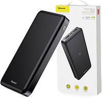 Внешний аккумулятор c беспроводной зарядкой Baseus Wireless Charger M36 10000mAh Black