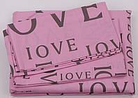 Комплект постельного белья Хлопок 100 Gold Двуспальный от украинского производителя Розовый 5010