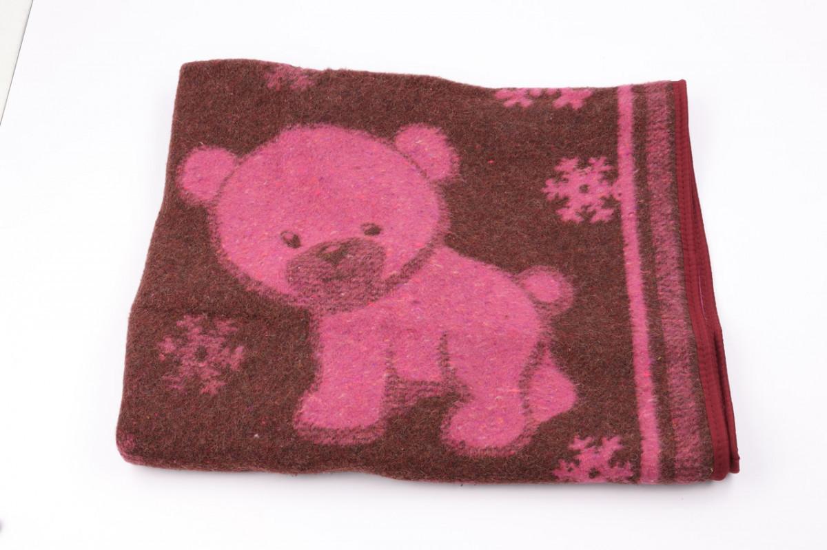 Одеяло жаккардовое детское полушерстяное Vladi Снежок (Влади) Розовый 100х140 Шерсть 50 (3100)