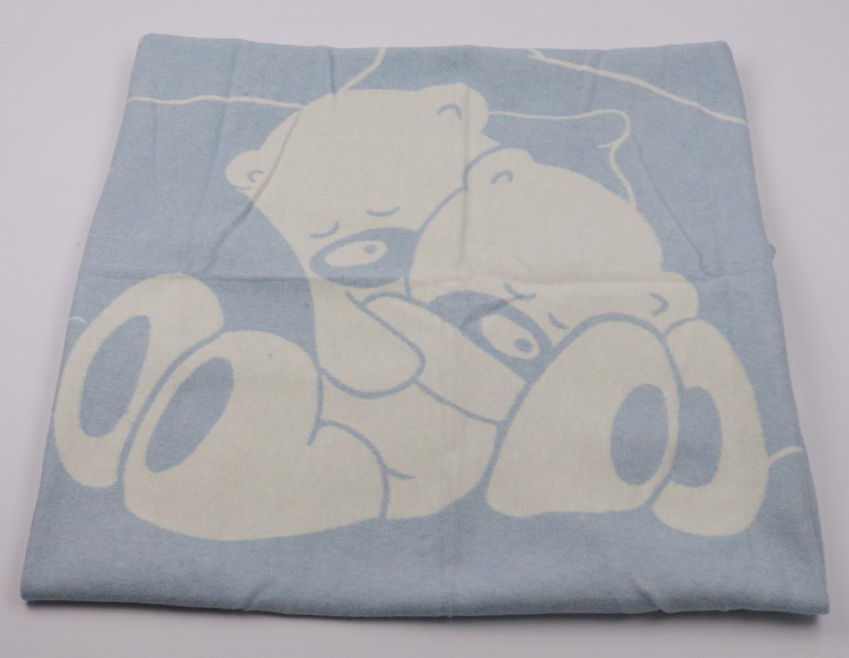 Одеяло жаккардовое детское хлопковое Vladi (Влади) Голубой 100х140 Хлопок 50 (3070)