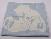 Одеяло жаккардовое детское хлопковое Vladi (Влади) Голубой 100х140 Хлопок 50 (3070), фото 1