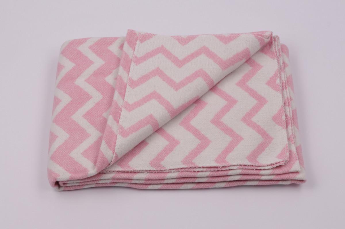 Одеяло жаккардовое детское хлопковое Vladi (Влади) Розовый 100х140 Хлопок 50 (3065)