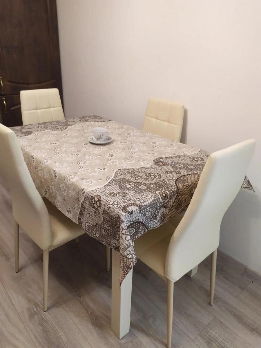 Скатерть столовая 110х150 см из рогожки Пастель TRA-1-326