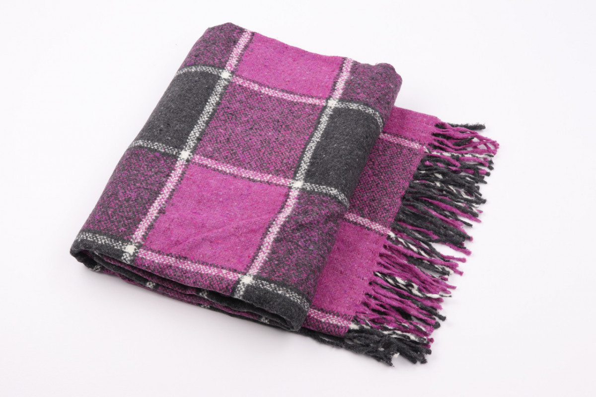 Шерстяной плед Vladi Palermo (Влади Палермо) Фиолетовый 140х200 Шерсть 20 (3080)