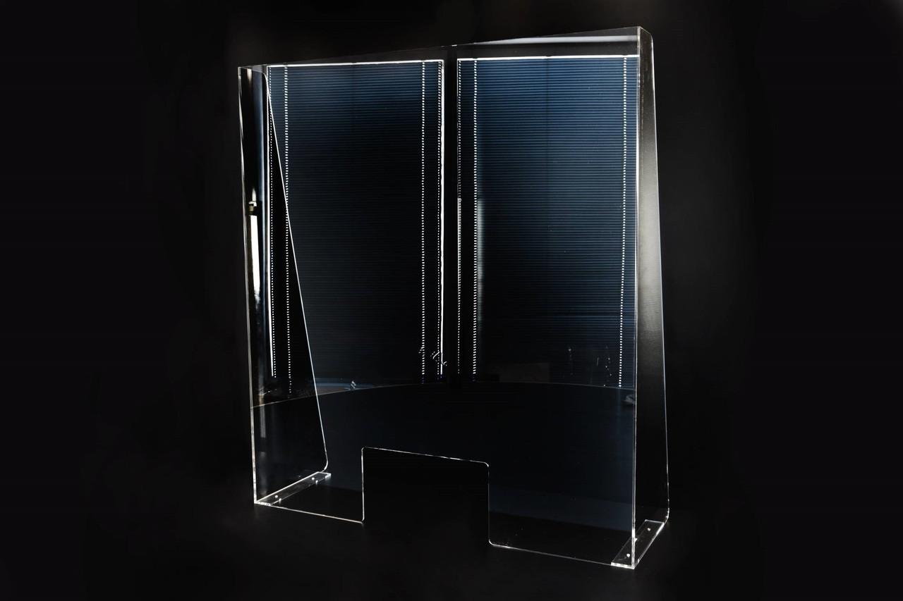 Защитный экран для кассы, приемного отделения и др.  из акрилового стекла 900*300*1000