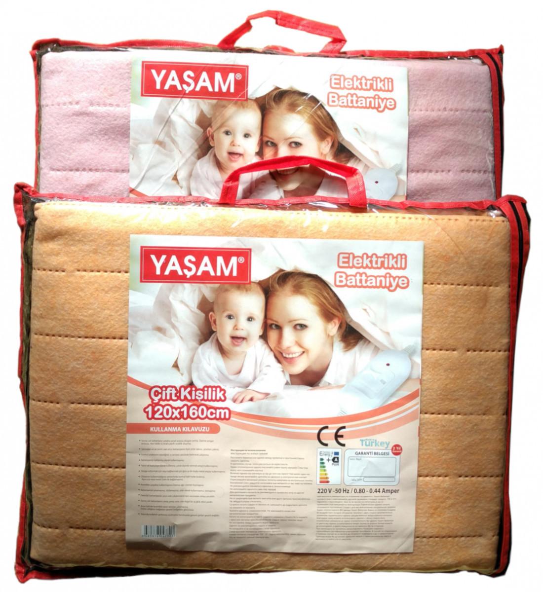 Электрическая простынь Yasam 120x160 - Турция (Электропростынь - термошов - байка) T-54997