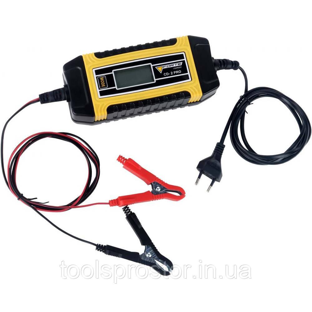 Зарядное устройство Forte CD-2 PRO : 2А - 6 / 12В | Гарантия 1 год