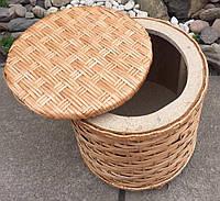 Пуфик плетеный из лозы | пуфик с крышкой сундуком  | кресло плетеное пуф