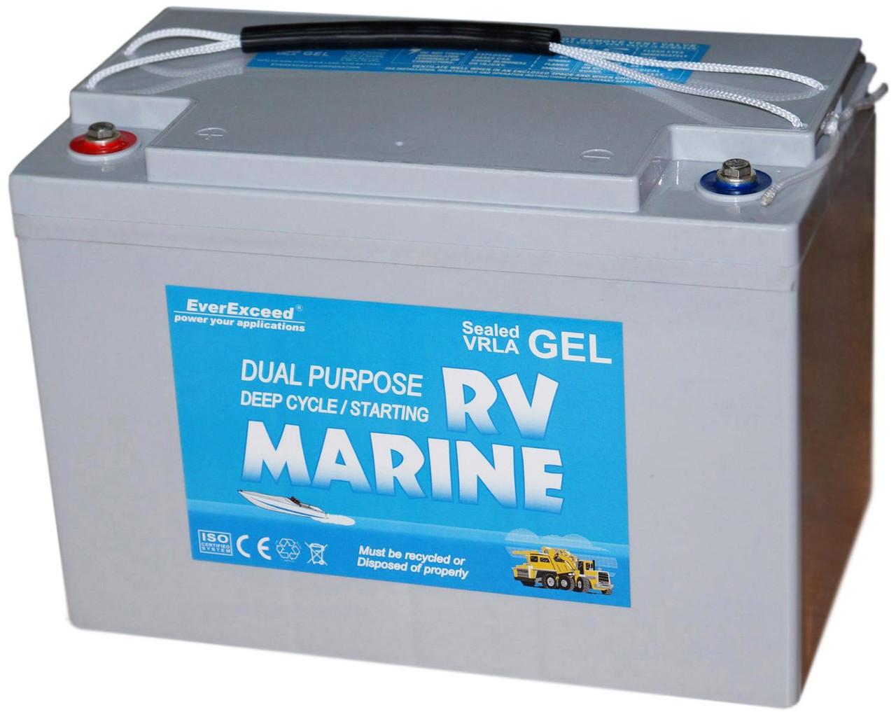 Гелевий акумулятор EverExceed Marine Gel 8G27M
