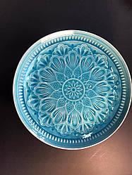 Тарелка керамическая обеденная Bailey Light Blue 26.5 см (500-01)