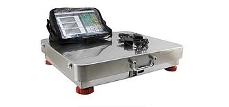 Весы торговые беспроводные с Bluetooth Crownberg 350 кг (42х52 см) Нержавейка