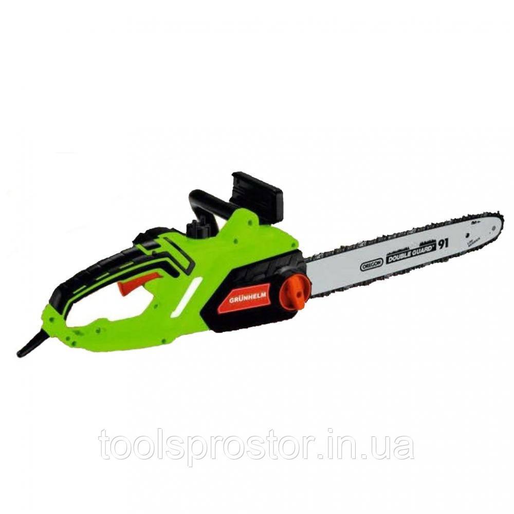Электропила цепная Grunhelm GES28-40P : 2800 Вт | 3/8 шаг цепи