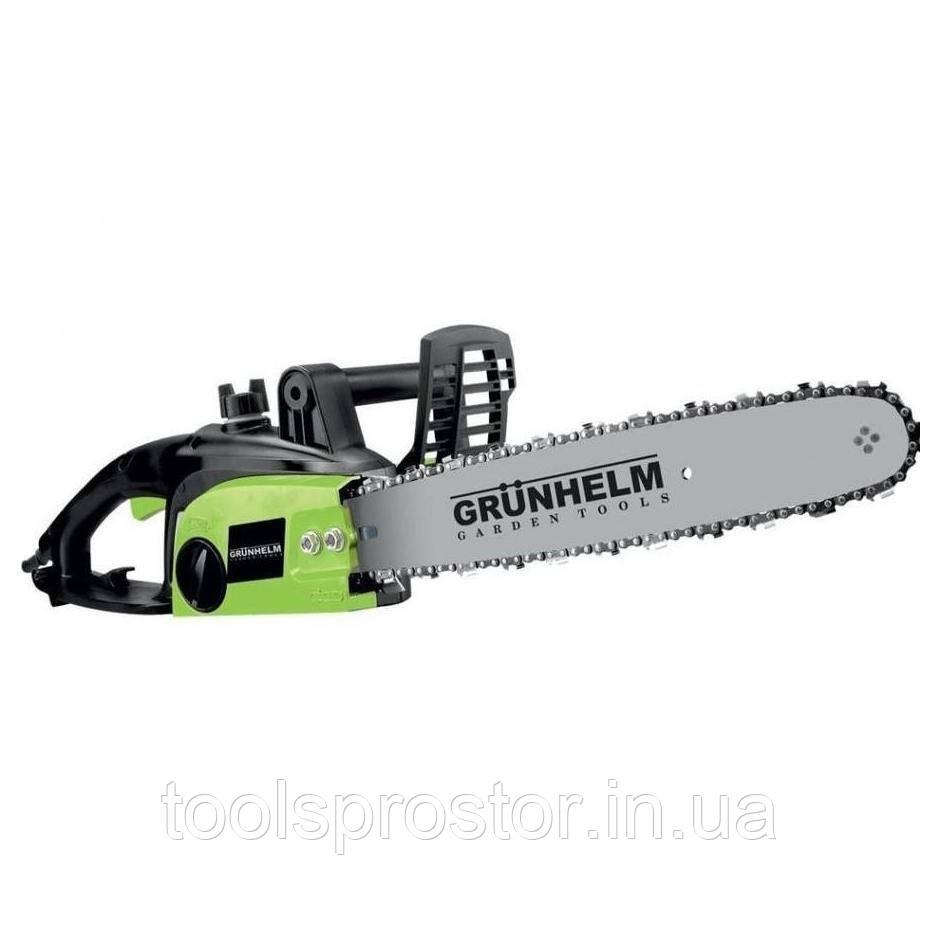 Электропила цепная Grunhelm GES23-40B : 2300 Вт | 40 см шина