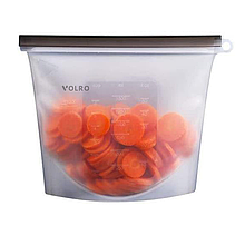Силиконовый пищевой судок  VOLRO многоразовый универсальный объем 1,5 л Белый (vol-538)