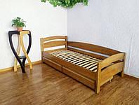 """Подростковая кровать с ящиками из массива дерева """"Марта"""" (светлый дуб) от производителя"""